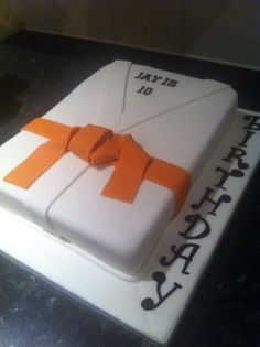 Karate Cake By Sariana on CakeCentral.com