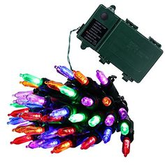 Qedertek Christmas Battery String Lights 50 LED 131ft with 8 Modes Lighting for Indoor Outdoor Home House Path Patio Xmas Tree Party Fairy Garden Holiday Waterproof multi color >>> Read more  at the image link.