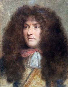 The Wig Business was Big Business in Century France by Lucinda Brant. Article for English Historical Fiction Authors. Portrait of Louis XIV by Charles Le Brun, Louis Xiv, French History, European History, Marie Antoinette, Ludwig Xiv, Historical Fiction Authors, French Royalty, French Art, Belle Photo