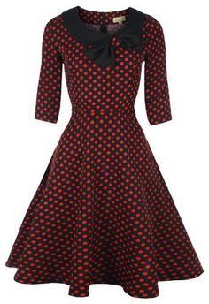 Lindy Bop 'Cassy' Vintage 1950's Parisian Style Collared Bow Dress Lindy Bop, http://www.amazon.co.uk/dp/B00BEX6P2E/ref=cm_sw_r_pi_dp_EZftsb0HX0G1E