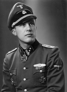 Portrait of SS-Hauptsturmführer Helmuth Schreiber taken in winter of 1943/44. He was decorated with the Knight's Cross on 30 July 1943 for his exceptional leadership as Chef of...