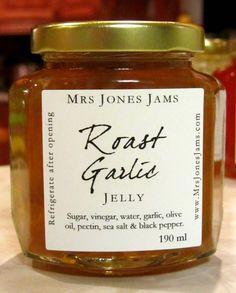 Roast Garlic Jelly - Mrs Jones' Jams