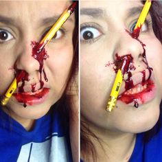 31 Days of Halloween: Pencil Accident   Halloween makeup and ...
