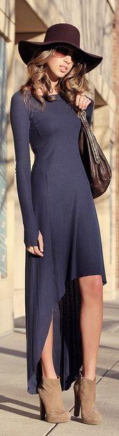 #Inspiration fashion, style, outfit, women, clothing, maxi dress, hat, black, purple, handbag, summer,