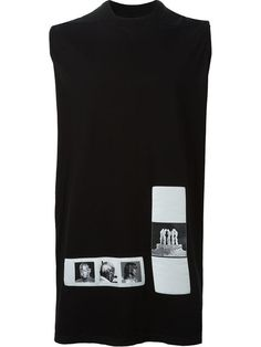 Rick Owens DRKSHDW photo patch tank top