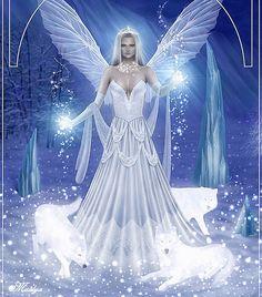 I am Master Winter Fairy Queen of the Mountainais Snow Fairy, Winter Fairy, Fairy Pictures, Angel Pictures, Elfen Fantasy, Fantasy Art, Magical Creatures, Fantasy Creatures, Fairy Queen