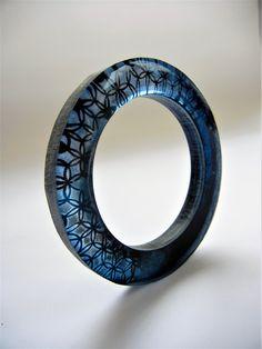 """Shibori"" - (series) resin bangle by Sonya Girodon."