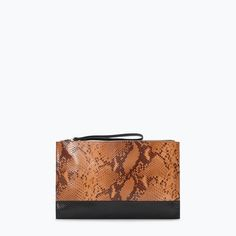 ZARA - SHOES & BAGS - PRINTED LEATHER CLUTCH