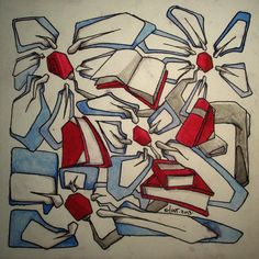color pnt [2013] document-marker & gouache on paper