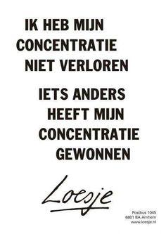 Concentratie
