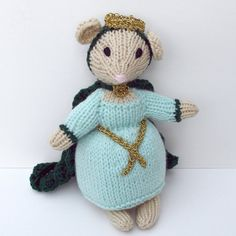 Queen Mother Royal Mouse Doll Hand Knit Toy Knit by bonniebear