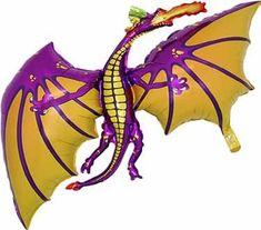 "Fire Breathing Dragon Head 36/"" Foil Balloon Big Giant Knight Fête Décoration"