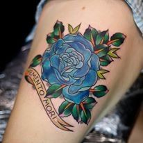 1000+ images about TATTOOES WITH BLUE ROSES on Pinterest ... Traditional Blue Rose Tattoo