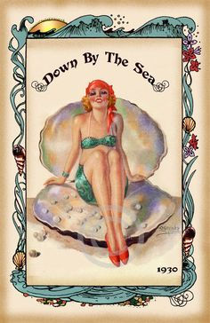 Beautiful Whimsical Deco Beauty Sitting in by DragonflyMeadowsArt, $25.00