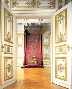 THE THRONE ROOM ~ EMMERAM PALACE, PRINCIPLE RESIDENCE OF THE PRINCES OF THURN AND TAXIS, IN REGENSBURG, GERMANY.