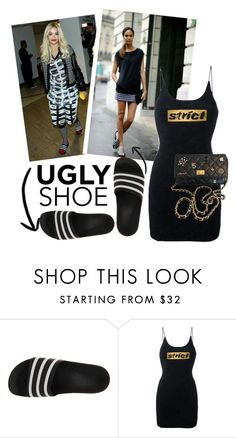 """Ugly Shoe Trend"" by kmp11 ❤ liked on Polyvore featuring adidas, Alexander Wang and Chanel"