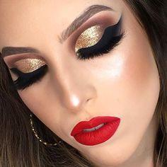Top 10 maquiagens para inspiração da @glamorous_reflections