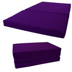 Shikibuton Tri-Folded Bed, High Density 1.8 lbs Foam - Purple Mattresses Look Good Feel Good, Mattresses, Diving, Coloring Books, Purple, Outdoor Decor, Places, Floral, Furniture