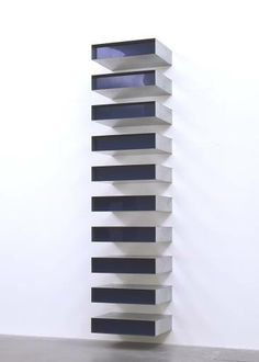 Donald Judd born 1928 [- 1994]American sculptor and writer on art. Born in Excelsior Springs, Missouri. Studied at the Art Students League, New York, 1948 and at the College of William and Mary, Williamsburg, 1948-9; later took degree courses in philosophy 1949-53 and then art history 1957-62 at Columbia University.