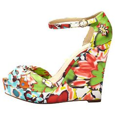 Floral Wedges...for those nights out at the shore, these shoes are great! Pair these with those mint shorts!