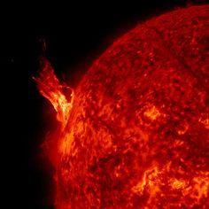 """Filament Burst"". Image credit: SDO Solar Dynamics Observatory, NASA."