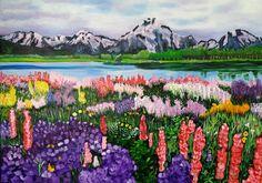 Soledad Dellepiane Paisaje óleo sobre tela de 70 x 50 cms Original