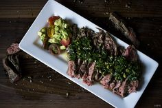 Skirt steak w/ chimi-verde. Also, anchovies.