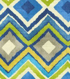HGTV Home Decor Print Fabric Like A Diamond Azure at Joann.com    Crib Skirt?