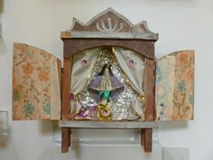 Fantastic tinfoil altar which I purchased for my altar-loving husband, but I've appropriated.