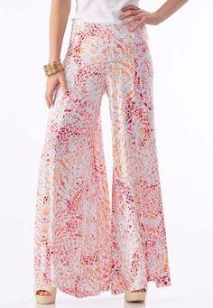 f988309b706e3 Cato Fashions Abstract Extreme Wide Palazzo Pants  CatoFashions Cute Pants