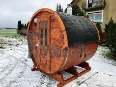 Barrel Sauna Met Houtbeits Voor Tuinhout Buitenconstructies (14)