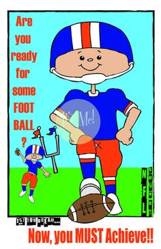 Are You Ready for Some Football  Print  Football by ItsMePrints  But the real question is…. Are You Ready for Some FOOTBALL?! Print - We are! And so is this guy! Great for any aspiring or current football star! Let us bring your team spirit out! Not your team's colors? Let us know at check out or message us before; we will match any team colors!