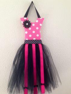I made this   Polka Dot Tutu Bow Holder by KiksNBoo on Etsy, $16.00