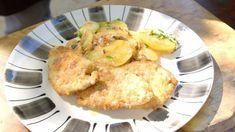 Pork escalopes with Lyonnaise potatoes