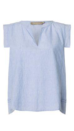 CASTRO top i lys blå fra Plus Fine | Shop Serafine.dk