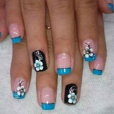 33 Gel Polish Nail Ideas To Try Now - Fashionre Nail Polish Style, Gel Nail Polish, Hot Nails, Hair And Nails, French Nails, Plaid Nails, Toe Nail Designs, Finger, Fabulous Nails