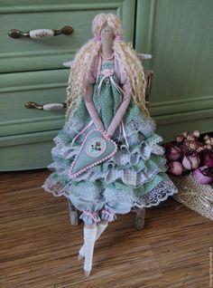 Купить Кукла тильда мятная свежесть - тильда, кукла ручной работы, кукла в подарок