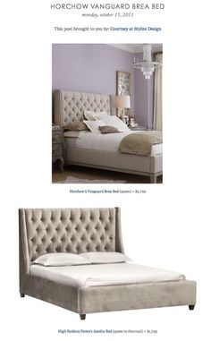 HORCHOW VANGUARD BREA BED vs HIGH FASHION HOME'S AMELIA BED