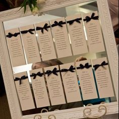 Simple DIY Seating Chart, especially handy if this was one of those things that slipped your mind as your wedding draws near