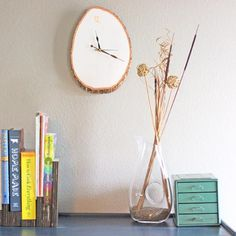 \DIY Wood Slab Wall Clock DIY Wall Art DIY Crafts DIY Home