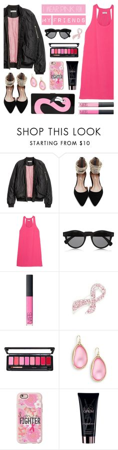 """""""I Wear Pink for My Friends"""" by lgb321 ❤ liked on Polyvore featuring Splendid, Illesteva, NARS Cosmetics, Napier, Alexis Bittar, Casetify, Yves Saint Laurent and Yazbukey"""