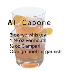 The Al Capone 10 Awesome Mob Cocktails Prohibition Party, Speakeasy Party, Gatsby Party, 1920 Gatsby, 20s Party, Gatsby Style, Gatsby Wedding, Dream Wedding, Cocktail Names
