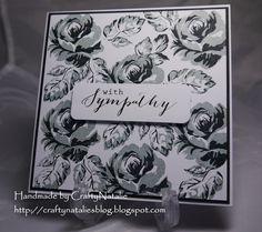 Altenew Vintage flowers card. Handmade by CraftyNatalie