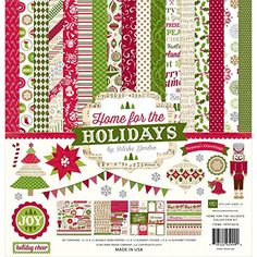 Echo Park Paper Company Home for The Holidays Collection Kit - http://www.specialdaysgift.com/echo-park-paper-company-home-for-the-holidays-collection-kit/