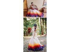 Des robes de mariage colorées qui ajoutent de la couleur à votre mariage.