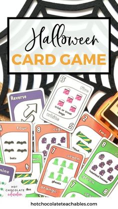 Your students will love playing this Halloween themed card game in small groups
