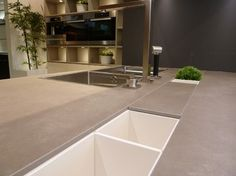 Neolith Cement - Contemporary - Kitchen - boston - by Marble and Granite, Inc.