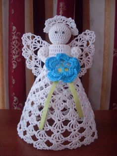 Discussion on LiveInternet - Russian Service Online diary Crochet Christmas Ornaments, Holiday Crochet, Crochet Snowflakes, Easter Crochet, Christmas Angels, Christmas Crafts, Merry Christmas, Crochet Angels, Crochet Cross