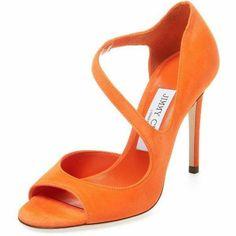jimmy choo ice cologne for men Orange Heeled Sandals, Orange High Heels, Suede Sandals, Stilettos, Stiletto Heels, Shoes Heels, Buy Shoes, Talons Oranges, Colorful Heels