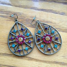 Boho Bronze Earrings Bohemian Floral Style Earrings Originally from Forever 21 Still in great condition Forever 21 Jewelry Earrings